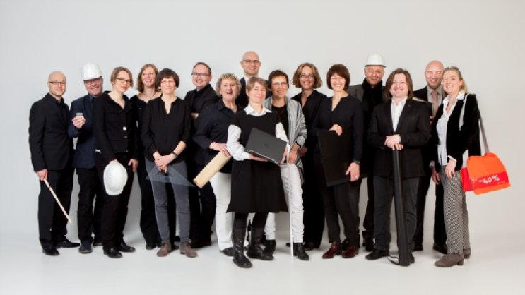 Unser Team im Bereich Kirchenbau; Quelle: Evangelischer Oberkirchenrat Karlsruhe