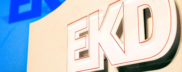 Bild: Schriftzug der EKD; Quelle: epd_Hanno Gutmann